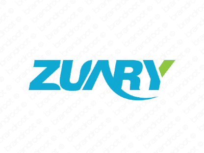 Zuary logo design included with business name and domain name, Zuary.com.
