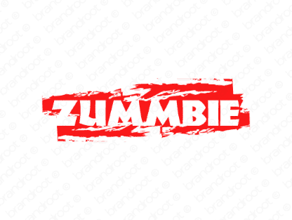 Zummbie logo design included with business name and domain name, Zummbie.com.