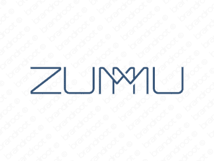 Zummu logo design included with business name and domain name, Zummu.com.