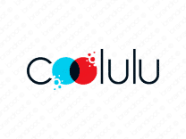 Coolulu logo design included with business name and domain name, Coolulu.com.