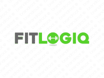 Fitlogiq logo design included with business name and domain name, Fitlogiq.com.