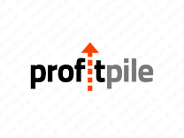 Profitpile logo design included with business name and domain name, Profitpile.com.